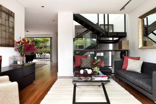 This is a brand new build consisting of three levels with extensive rock excavation works. It is a modern architectural design with four bedrooms, three bathrooms, open plan living and car basement garage.